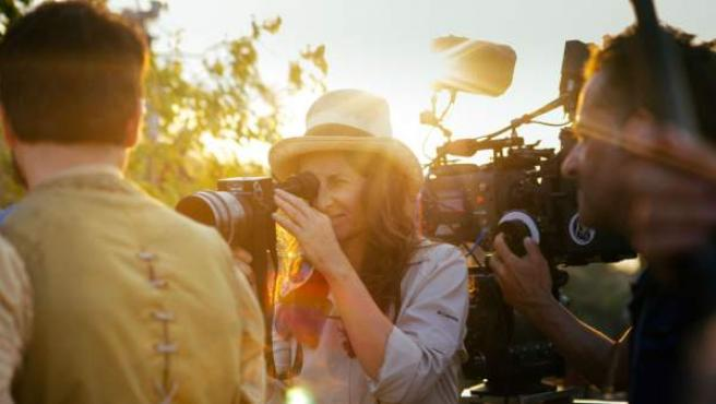 Lucrecia Martel durante el rodaje de 'Zama'.