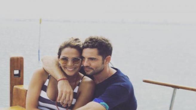 David Bisbal y Rosanna Zanetti, en una imagen publicada en una red social.
