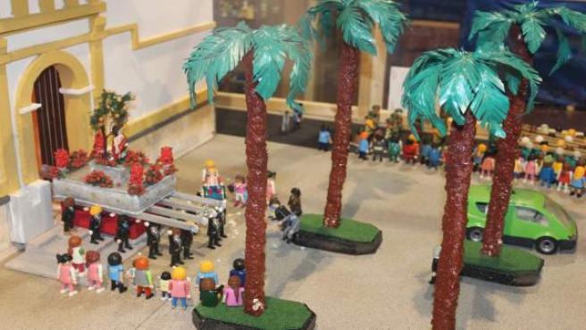 Recreación exposición playmobil alhaurín semana santa muñecos