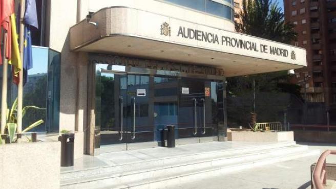 Fachada de la audiencia provincial de Madrid.