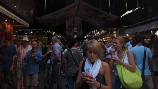 El mercado de la Boqueria de Barcelona.