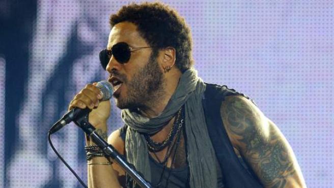 Lenny Kravitz durante el concierto en Rock in Rio Madrid 2012.