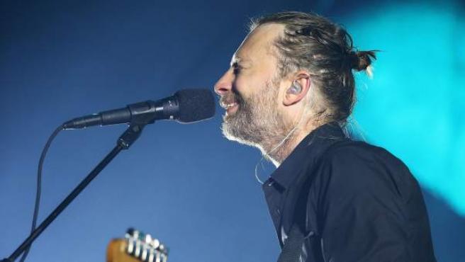 Thom Yorke, vocalista de Radiohead.