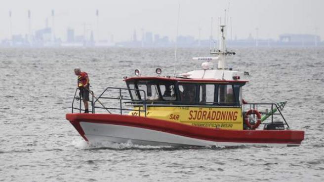 Un barco sueco participa en las labores de búsqueda de la periodista Kim Wall.