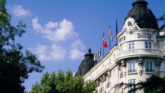 La fachada del Hotel Ritz.