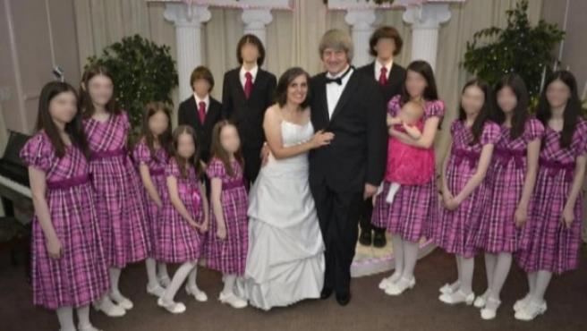 David Allen Turpin y Louise Anna Turpin, detenidos por secuestrar y torturar a sus 13 hijos.