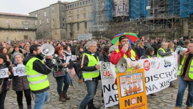 Manifestación de los empleados públicos de Xustiza