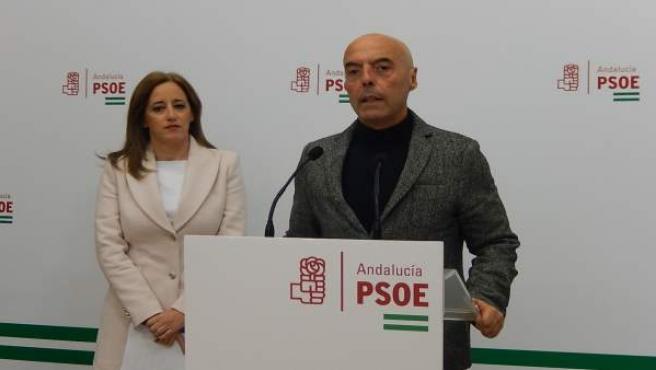 Hurtado interviene junto a Foncubierta en la sede del PSOE de Córdoba