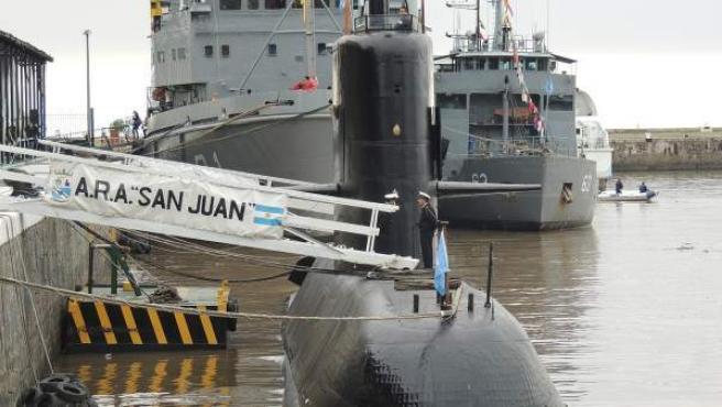 Imagen del ARA San Juan en Buenos Aires, en una instantánea tomada el pasado 14 de mayo de 2017.