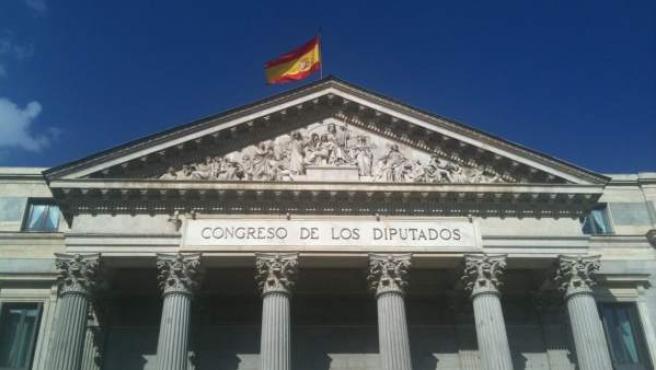 Fachada del Congreso de los Diputados en Madrid.