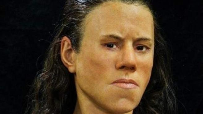 Recreación del rostro de una adolescente griega de hace 9.000 años.