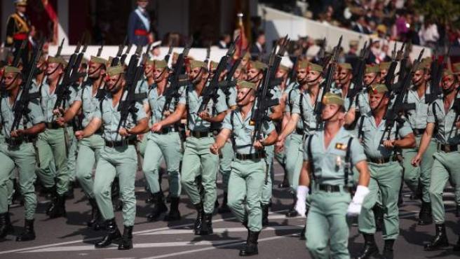 Legionarios en el desfile del 12 de octubre del 2017