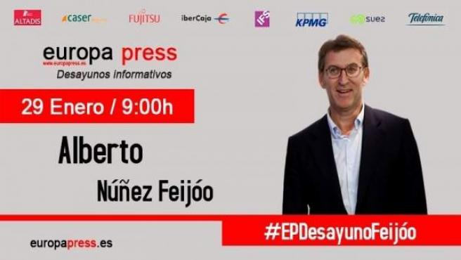 Alberto Núñez Feijóo participa en los Desayunos de Europa Press