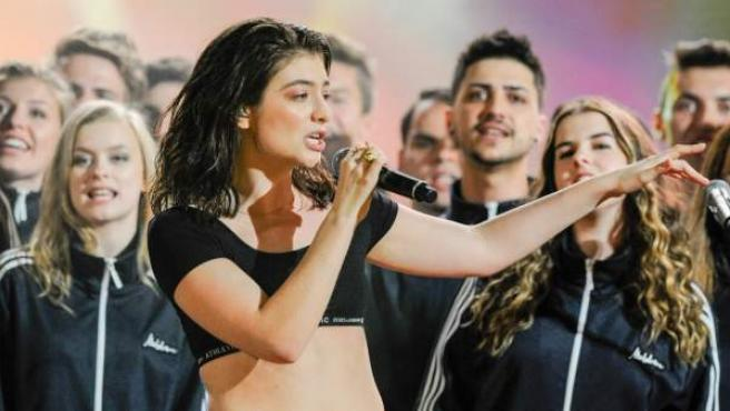 Lorde, durante su actuación en los premios Much Music Video en 2017.