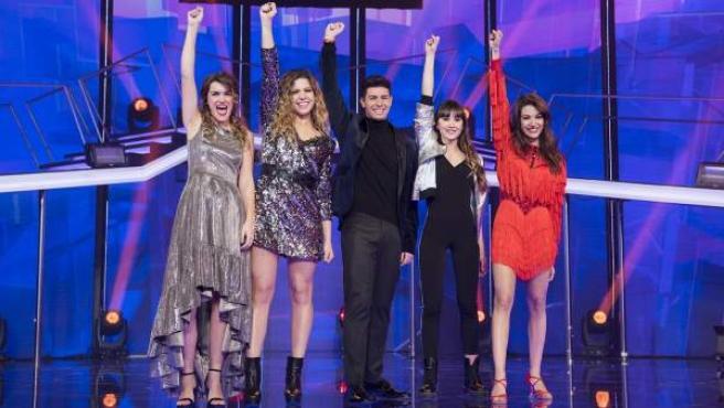 Los cinco finalistas de 'OT'.