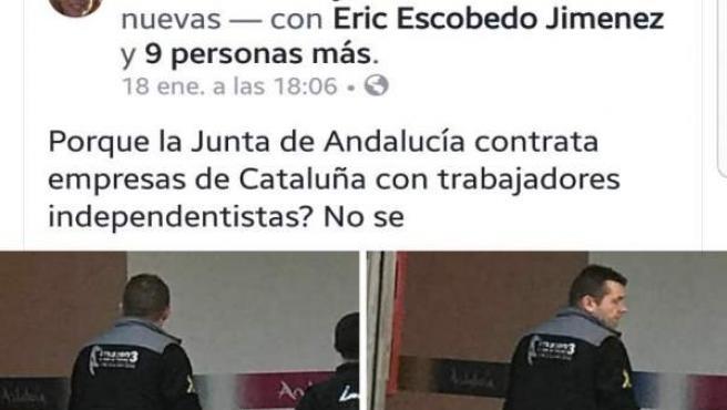 Pantallazo difundido por el PSOE de Lanjarón