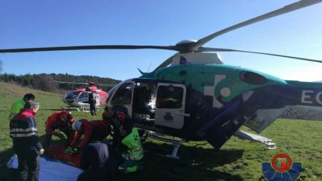 Rescate helicóptero ertzaintza