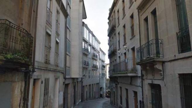 Calle San Francisco de la ciudad de Ourense.