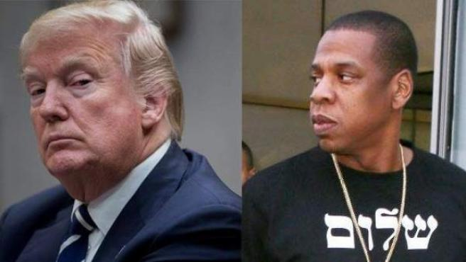 Donald Trump (izda.) y el rapero Jay-Z (dcha.).