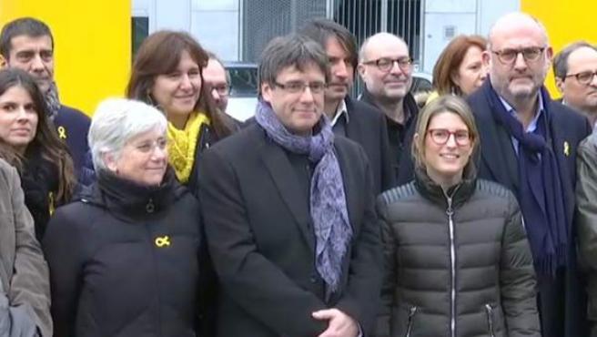Imagen de Carles Puigdemont en Bruselas.