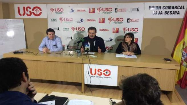 USO ofrece rueda de prensa sobre Solvay