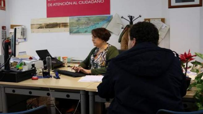 Oficina de atención al ciudadano de la Subdelegación del Gobierno en Huelva.