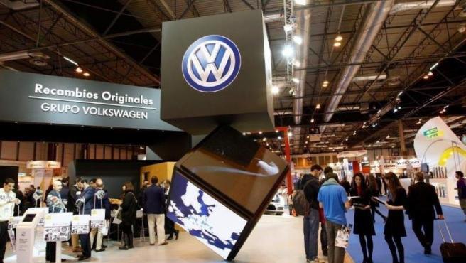 Stand de Volkswagen-Audi España en Motortec Automechanika Madrid 2015.