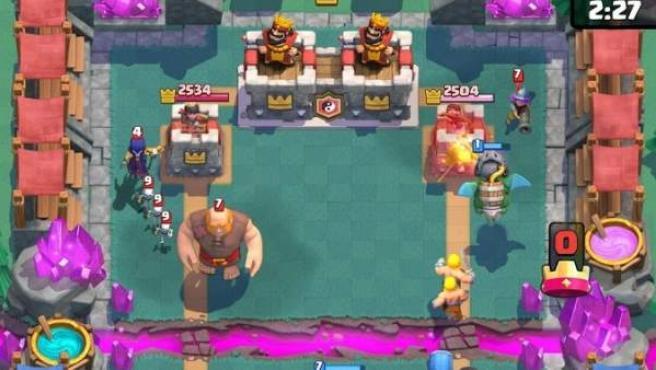 Una imagen de una partida de Clash Royale.
