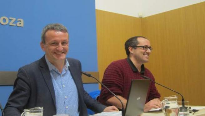 Fernando Rivarés y Alberto Cubero, en rueda de prensa en el Ayuntamiento
