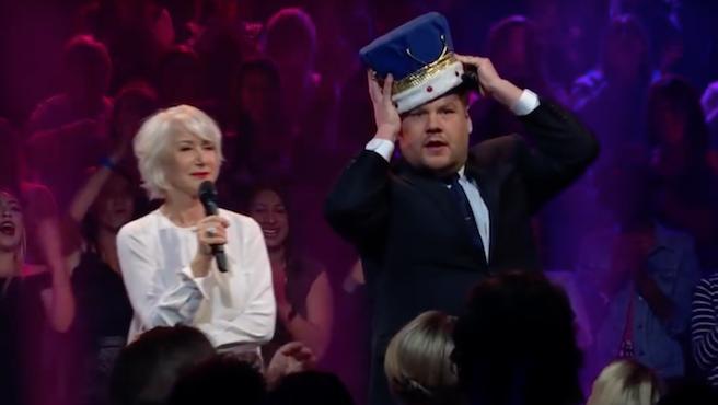 Vídeo del día: Helen Mirren APLASTA a James Corden en una batalla rapera