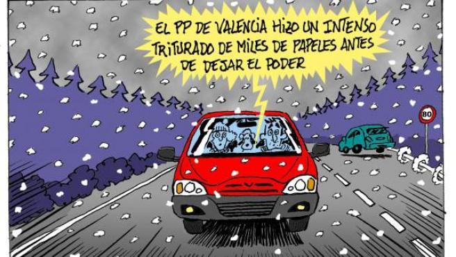 PP Valencia. Viñeta de Asier y Javier