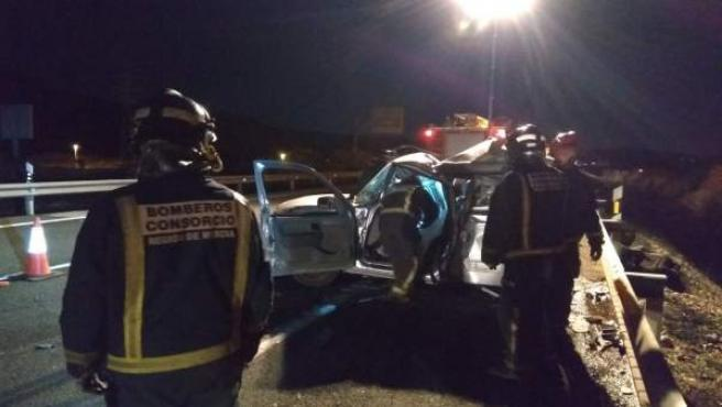 Accidente con un fallecido en la A-30, en Cieza (Murcia)