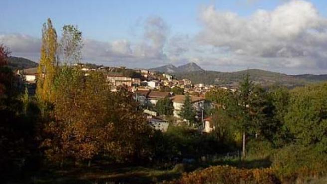 Imagen panorámica de la localidad sarda de Ollolai.