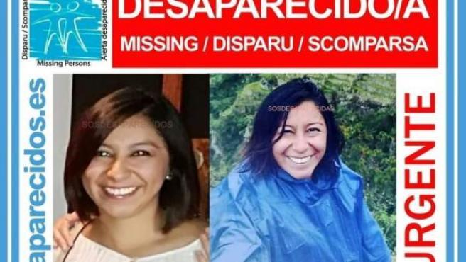 Alerta difundida por SOS Desaparecidos
