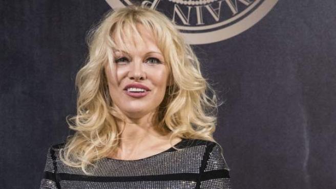 Pamela Anderson, en un evento en París.
