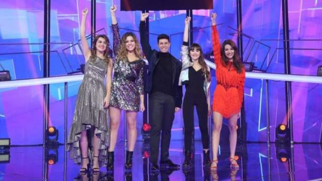 Los finalistas de 'OT 2017'. De izquierda a derecha: Amaia, Miriam, Alfred, Aitana y Ana Guerra.