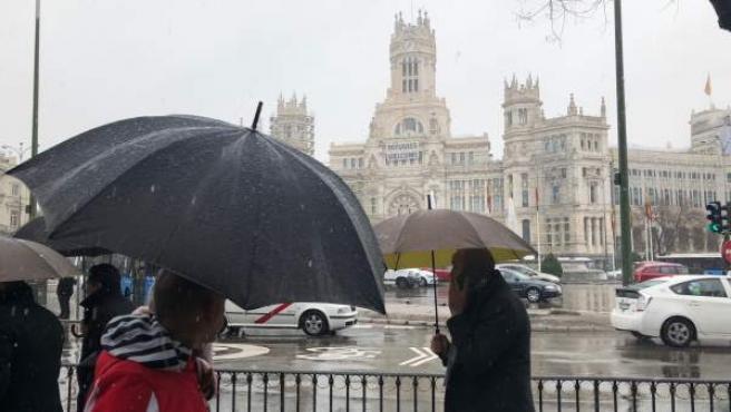 Madrid sufrió el lunes una fuerte nevada.