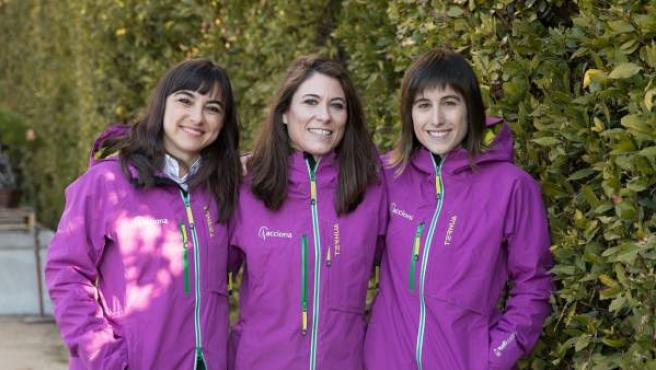 El equipo español de la expedición de mujeres científicas a la Antártida contra el cambio climático.