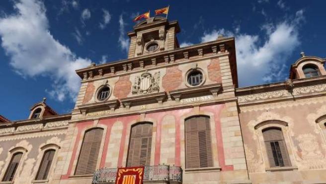 La fachada del Parlament de Catalunya.