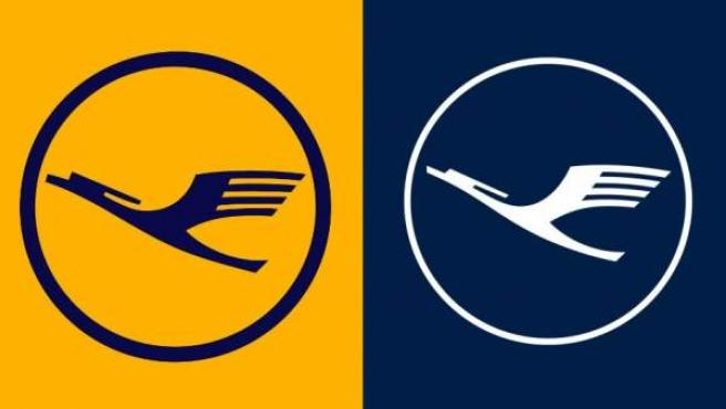 El nuevo logo de Lufthansa (derecha), junto al usado por la aerolínea alemana hasta ahora.