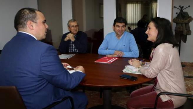Dirigentes de CCOO se reúnen con la subdelegada del Gobierno en Huelva.