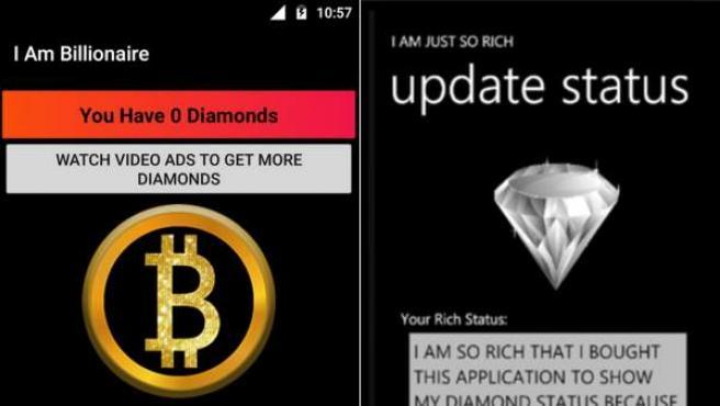 Apps absurdas para alardear de que se tiene dinero.