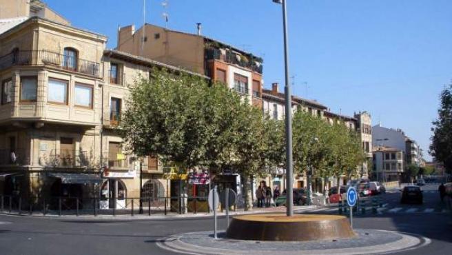Imagen de la localidad navarra de Tafalla.