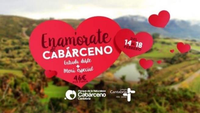 Cartel San Valentín en Cabárceno