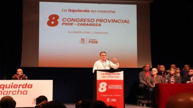 Sanchez Quero en el VIII Congreso del PSOE-Zaragoza.