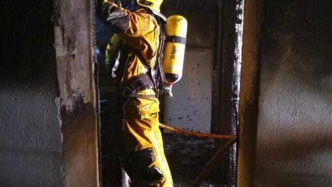 Bombero de Palma, incendio en vivienda