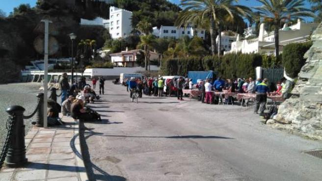 La marcha a su llegada a Almuñécar