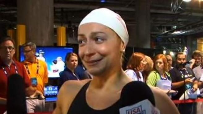Una imagen de la nadadora estadounidense Ariana Kukors.