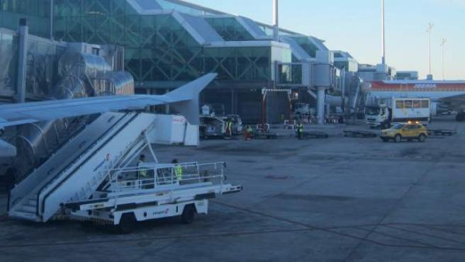 La terminal 1 del Aeropuerto de Barcelona El Prat.