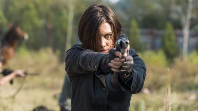 La actriz Lauren Cohen como Maggie en 'The Walking Dead'.